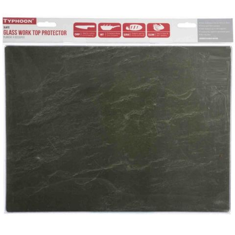 Typhoon Grey Slate Glass Worktop Chopping Cutting Board